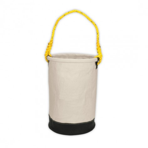 CLC 107 12 x 16 in. Leather Bottom Canvas Utility Bucket