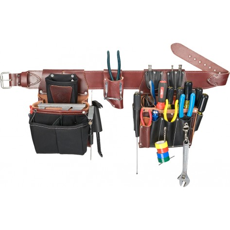 Occidental Leather 5590 Commercial Electrician's Tool Bag Set