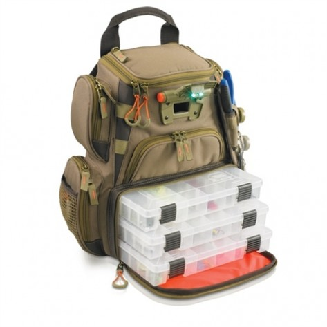 Wild River WT3503 Tackle Tek Recon - Lighted Compact Backpack w/ 4 PT3500 trays