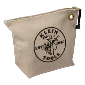Klein 5539NAT Canvas Zipper Bag-Natural
