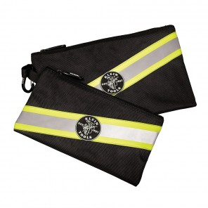 Klein 55599 High Visibility Zipper Bags, 2Pk