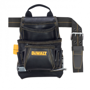 DeWalt DG5433 10 Pocket Carpenter's Top Grain Leather Nail and Tool Bag
