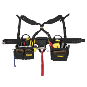 DeWalt DG5641 19 Pocket Framer's Combo Apron with Suspenders