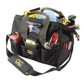 "CLC L230 29 Pocket Tech Gear Lighted 14"" BigMouth Tool Bag"