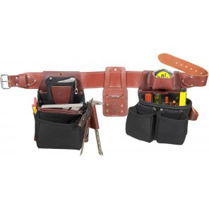 Occidental Leather B8080DB OxyLights Framer Tool Belt Package w/ Double Outer Bag - Black