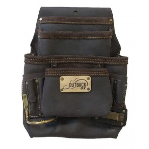 OX Tools OX-P263701 Oil-Tanned Leather 10 Pocket Tool Pouch