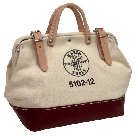 Klein 5102-12 12-in. (305 mm) Canvas Tool Bag