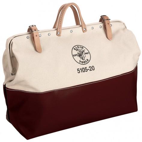 Klein 5105-20 20-in. High-Bottom Canvas Tool Bag