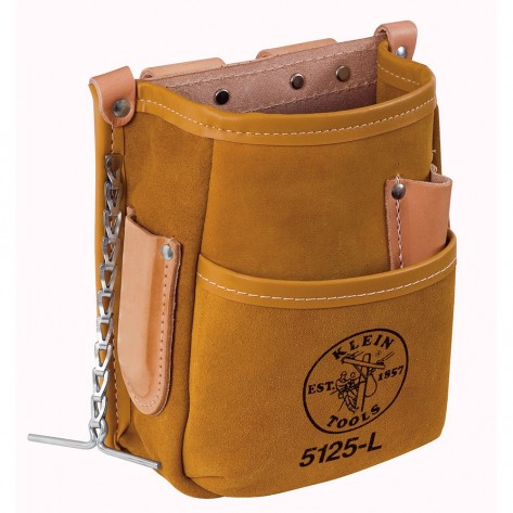 Klein 5125L 5 Pocket Tool Pouch Leather