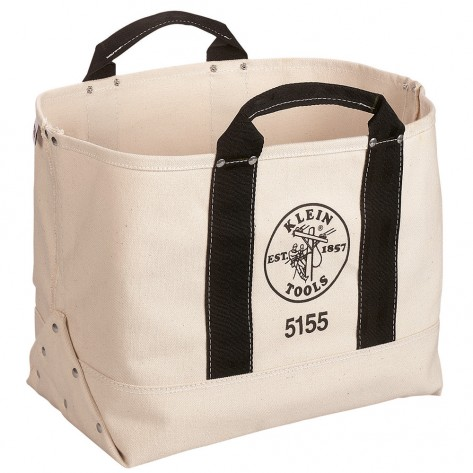 Klein 5155 17-in. (432 mm) Canvas Tool Bag