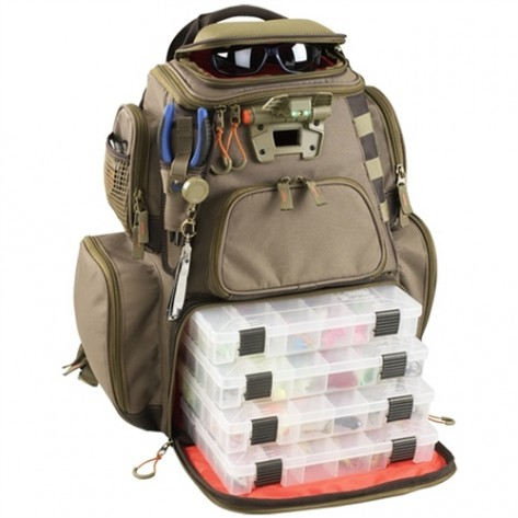 Wild River WT3604 Tackle Tek Nomad - Lighted Backpack w/ 4 PT3600 Trays
