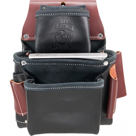 Occidental Leather B5060 Black 3 Pouch Pro Fastener Bag