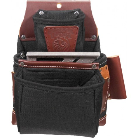 Occidental Leather B8060 OxyLights 3 Pouch Fastener Bag Black