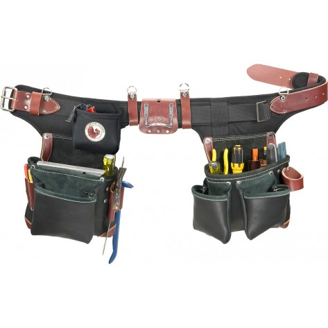 Occidental Leather B9588 Adjust-to-Fit Green Building Tool Belt Set Black