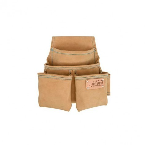 Ox Tools OX-T264104 Trade 4-Pocket Fastener Suede Leather Pouch