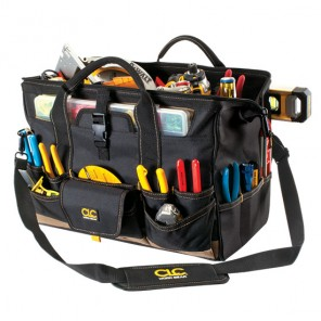 CLC 1535 18 in. 37 Pocket Top Side Tool Bag w/ Plastic Parts Tray