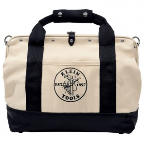 Klein 5003-18 18-in. Canvas Tool Bag with Leather Bottom