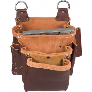 Occidental Leather 5063 3 Pouch Belt-Less Fastener Bag