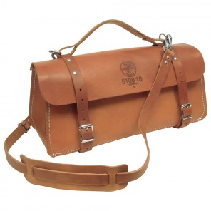 Klein 5108-18 18-in. Deluxe Leather Bag