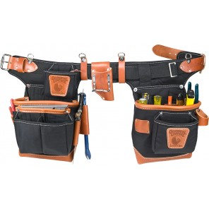 Occidental Leather 9850 Black Adjust-to-Fit Fat Lip Tool Bag Set