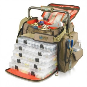 Wild River WT3702 Tackle Tek Frontier - Lighted Bar Handle Tackle Bag w/ 5 PT3700 trays