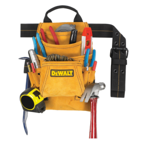 DeWalt DG5333 10 Pocket Carpenter's Suede Nail and Tool Bag