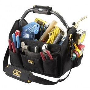 "CLC L234 22 Pocket Tech Gear Light Handle 15"" Open Top Tool Carrier"