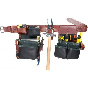 Occidental Leather B5625 Green Building Framer Tool Belt Set - Black